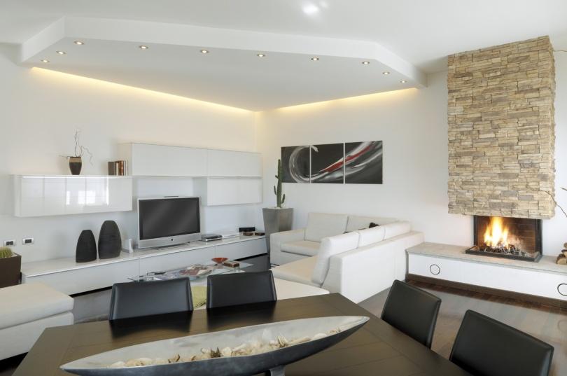 Soffitto ribassato con controsoffitto miniandcheap for Tende x saloni moderni